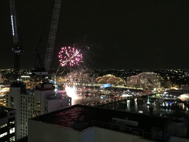 Fireworks outside of my window every Saturday...